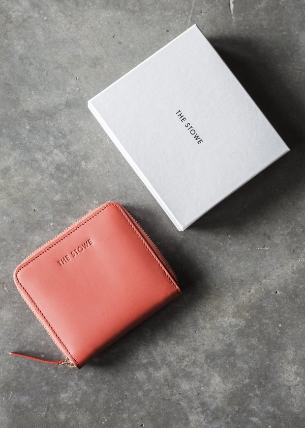 The Stowe Square Wallet in Paprika
