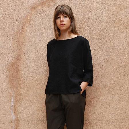 Me & Arrow Dolman Top - Black Bamboo/Cotton