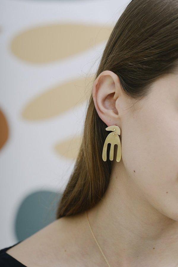 Seaworthy Ruby Earrings - Silver