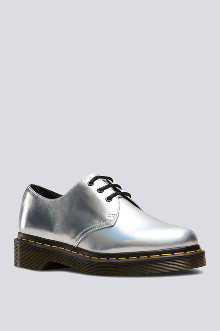 Dr. Martens Leather 1461 Lace-Up Oxford - Silver Lazer