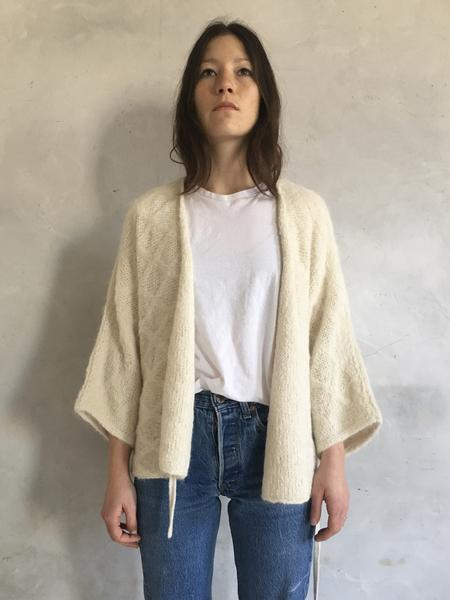 WOL HIDE WHITE QUILTED WRAP