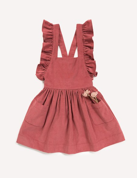 Kids Petits Vilains Clothier Inès Pinafore Dress - Rose