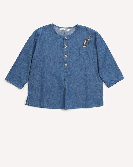 Kids Petits Vilains Clothier Jules Henley Tunic - Indigo