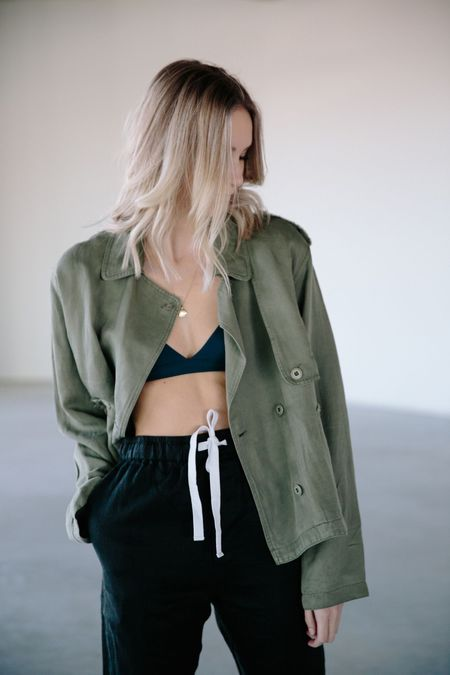 Rails Crop Military Jacket
