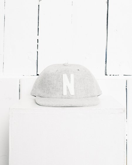 Norse Projects Winter Wool 6 Panel, Light Grey