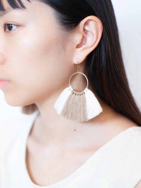 SASAI THREADED FAN EARRINGS