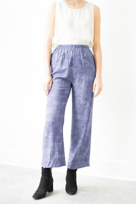Backtalk PDX Vintage Elastic Waist Pants - Purple