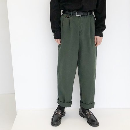 Johan Vintage Evergreen Pleated Pant