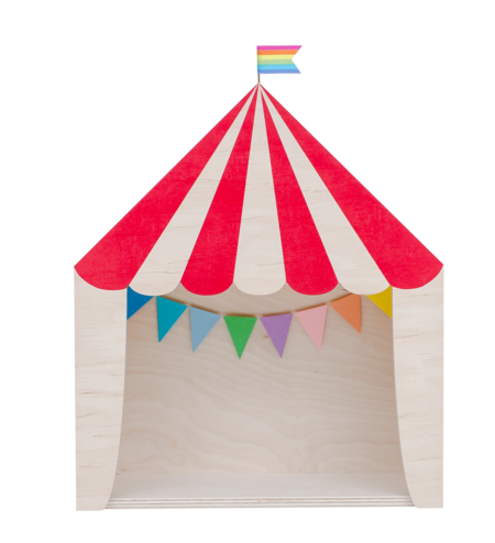 """Kid's Up! Warsaw """"The Big Top"""" Circus Shelf Red"""