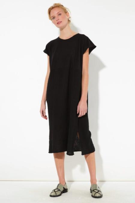 Raquel Allegra Gauze and Jersey Shift Dress