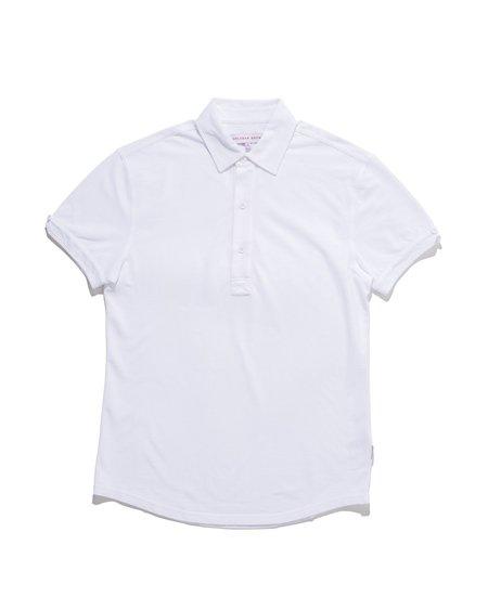 Orlebar Brown Harris Pique Polo - White