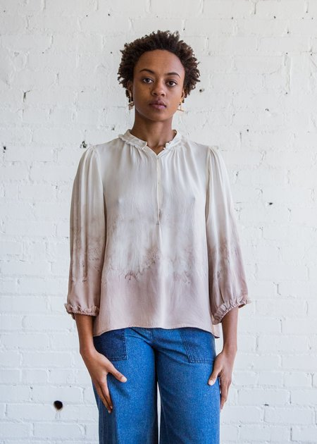 Raquel Allegra Peasant Blouse - Stone Tie Dye