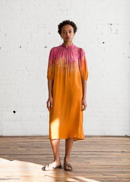 Raquel Allegra Peasant Dress - Poppy Bloom Tie Dye